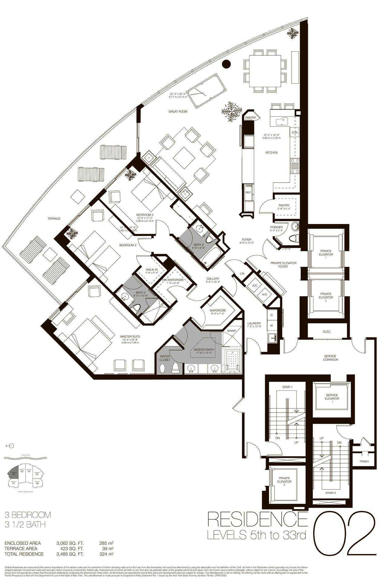 Residences 02 - 05, Level 5-35