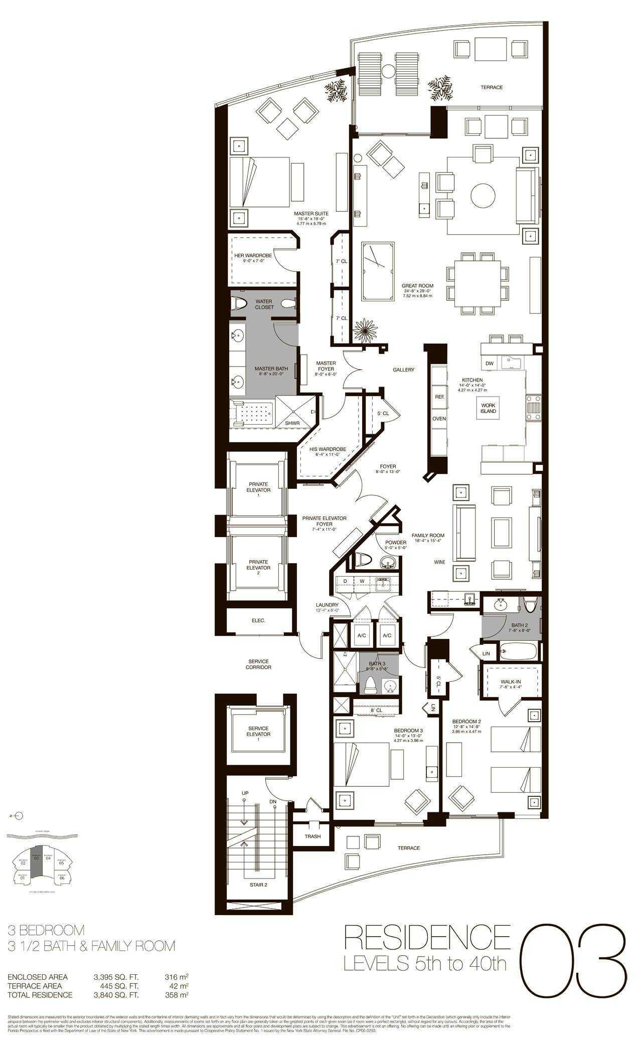 Residences 03 - 04, Level 5-40