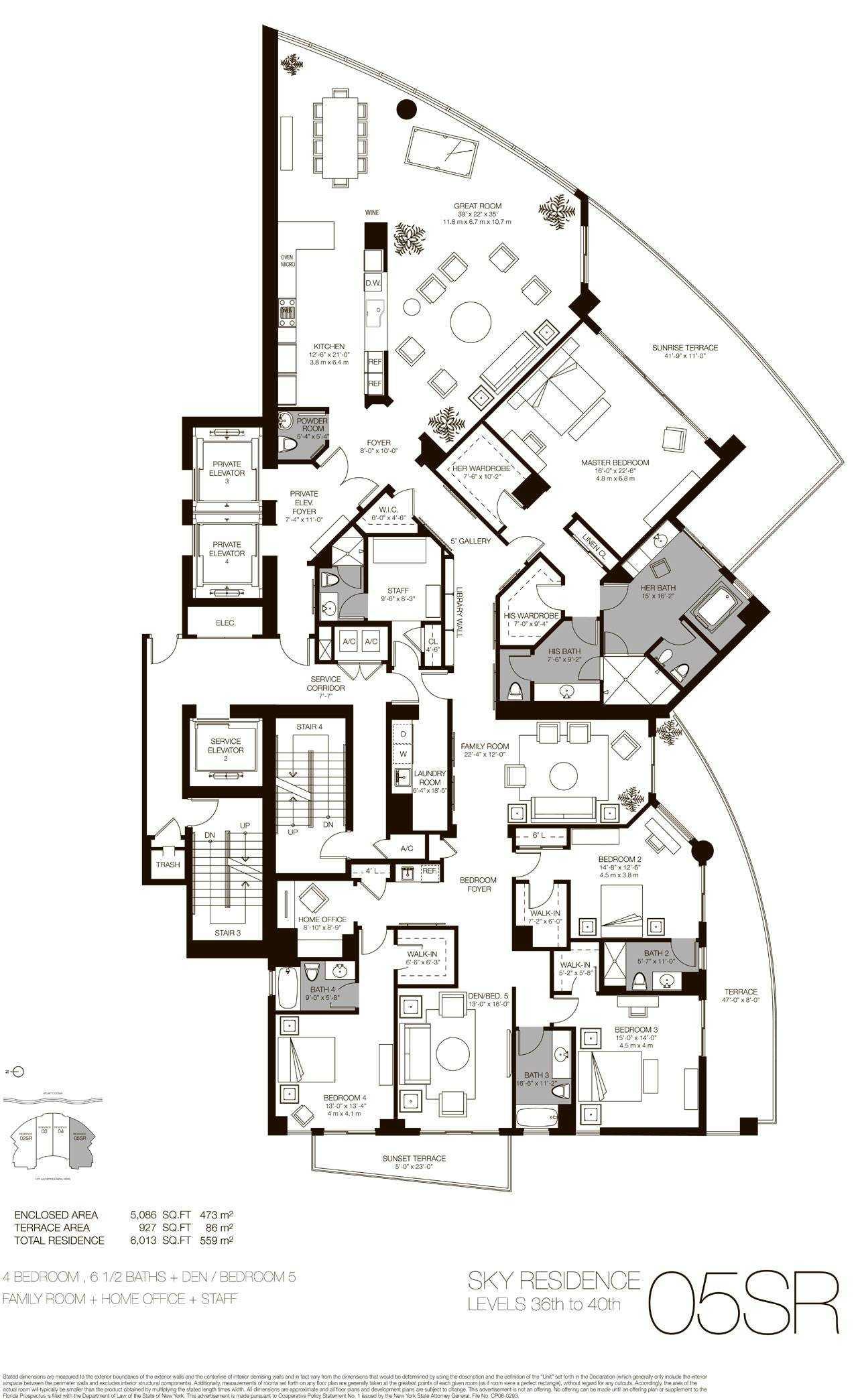 Sky residence 02 - 05, Level 34-40